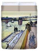 Le Pont De Trinquetaille Duvet Cover