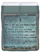 Le Pont Mirabeau Duvet Cover