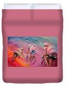 Le Tour De France 16 Acrylics Duvet Cover