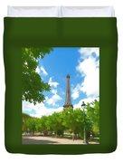 Le Tour Eiffel Duvet Cover