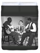 Leadbelly, Nicholas Ray, Josh White Duvet Cover