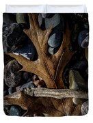 Leaf And Stones Duvet Cover