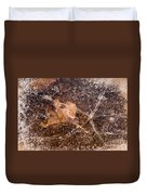 Leaf In Ice Duvet Cover by Anne Gilbert