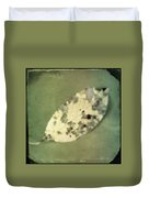 Leaf On Green Fabric Duvet Cover