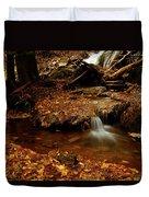 Leaf Splatter Duvet Cover
