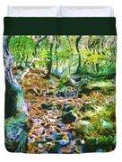Leaf Stream Duvet Cover