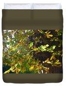 Leafy Tree Bark Image Duvet Cover
