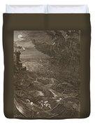Leander Swims Over The Hellespont Duvet Cover by Bernard Picart