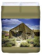 Leaning Barn Of Bodie California Duvet Cover