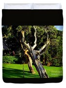 Leaning Cedars Of West Chop Duvet Cover
