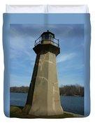 Leaning Lighthouse Duvet Cover