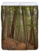 Leaning Over The Trail Duvet Cover