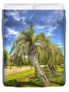 Leaning Palm Duvet Cover