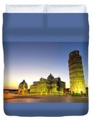 Leaning Tower By Dusk  Duvet Cover