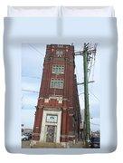 Leaning Tower Of Pilsen. Duvet Cover