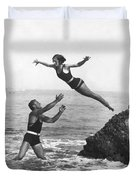 Leap Into Life Guard's Arms Duvet Cover