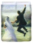 Leap Of Love Duvet Cover
