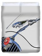 Leaping Jaguar Duvet Cover
