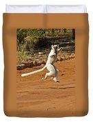Leaping Lemur Duvet Cover