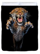 Leaping Leopard Duvet Cover