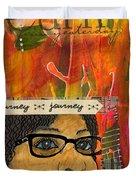 Learning From Yesterday - Journal Art Duvet Cover