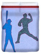 Leather Texture Art Bowler And Pitcher Base Ball Game Sports Competition Duvet Cover