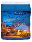 Leavenworth Gazebo Duvet Cover by Inge Johnsson