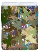 Leaves And Grass Abstract Duvet Cover