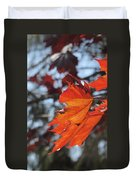 Leaves Backlit 3 Duvet Cover