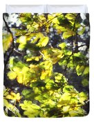 Leaves Blowing Duvet Cover
