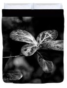 Leaves - Bw Duvet Cover