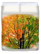 Leaves Changing Colors Duvet Cover