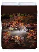 Leaves In The Creek Duvet Cover