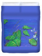 Leaves In The Wind Duvet Cover