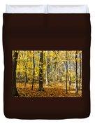 Leaves In The Woods Duvet Cover