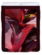 Leaves Of The Red Ti Plant Duvet Cover