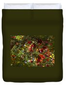 Leaves On Evergreen Duvet Cover