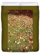 Leaves On Grass Duvet Cover