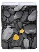 Leaves With Rocks Duvet Cover