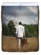 Leaving Duvet Cover by Joana Kruse