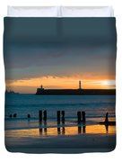 Leaving Port Duvet Cover