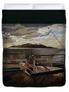 Leaving Queen Charlotte Sound Duvet Cover