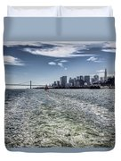 Leaving San Francisco Duvet Cover