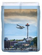 Leaving Seattle Duvet Cover