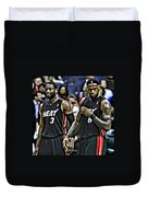 Lebron James And Dwyane Wade Duvet Cover