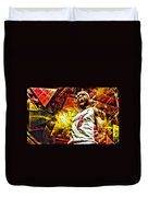 Lebron James Art Poster Duvet Cover by Florian Rodarte