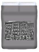 Led Zeppelin Physical Graffiti Building In Black And White Duvet Cover