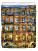 Led Zeppelin Physical Graffiti Building In Color Duvet Cover
