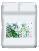 Led Zeppelin - Watercolor Portrait.2 Duvet Cover