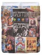 Led Zeppelin Years Collage Duvet Cover